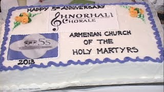 Anniversary Concert of Armenian Church of the Holly Martyrs and Shnorali Chorale