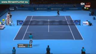 Tennis Highlights, Video - amazing point Novak Djokovic vs Rafael Nadal-ATP World Tour Finals 2013