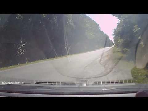 Idiot rear ends dashcam car then t bones minivan