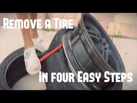 rim tyre - This is a video showing how to take a low profile tire off of a rim. I do not suggest trying this in any way.