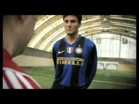 Zanetti en un spot de las Olimpiadas Europeas Especiales 2010