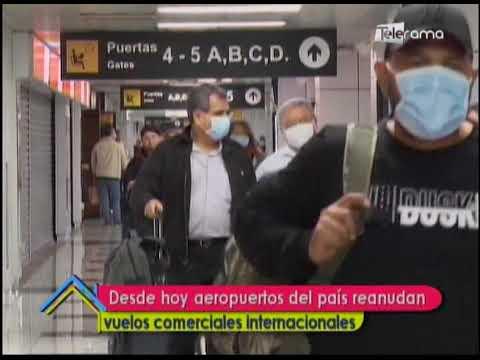 Desde hoy aeropuertos del país reanudan vuelos comerciales internacionales