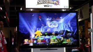 Super Smash Bros Wii U: Wily's Castle Match (PAX 2014 Gameplay)