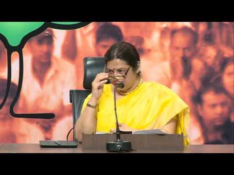 Press Conference by Smt. Meenakshi Lekhi at BJP HQ : 13.5.2016