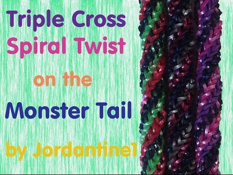 Triple Cross Spiral Twist Bracelet -Monster Tail – Rainbow Loom
