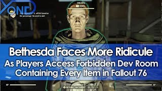 Video Bethesda Faces More Ridicule as Players Access Forbidden Dev Room with Every Item in Fallout 76 MP3, 3GP, MP4, WEBM, AVI, FLV Januari 2019