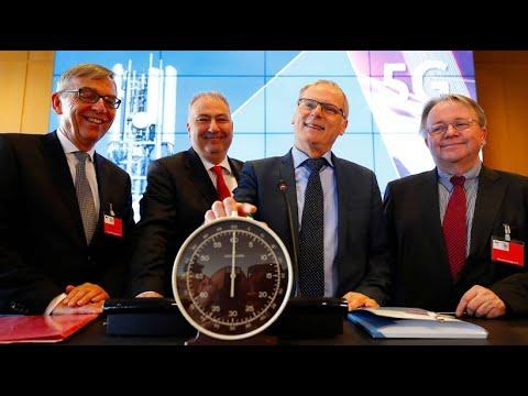 Startschuss der Auktion für 5G-Rechte in Deutschland  ...
