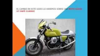 8. Como cambiar filtro del aire en una moto Guzzi V7 Cafe Classic.wmv