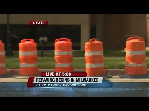 Repaving work on downtown Milwaukee streets begins Tuesday