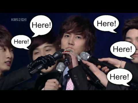 SuJu hyungs to the rescue for magnae Kyuhyun (видео)