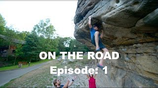 Joe attempts his first outdoor 7B - On the road Ep:1 by Bouldering Bobat