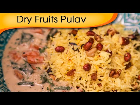 Dry Fruits Pulav With Coconut Curry – Quick And Easy Main Course Rice Recipe By Ruchi Bharani