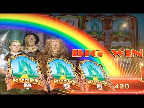 BIG WIN w/ SURPRISE Ending – Ruby Slippers 2 Slot Machine Bonus Yellow Brick Road