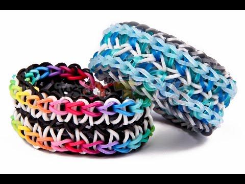 Symphony Rainbow Loom Bracelet – Needs 3 Looms – Advanced Reversible Design