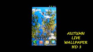 Autumn Lake Live Wallpaper HD YouTube video