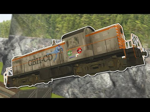 Garrys Mod - TRAIN RACE WITH JUMPS! - Garry's Mod Gameplay - Gmod Train Tornado Survival