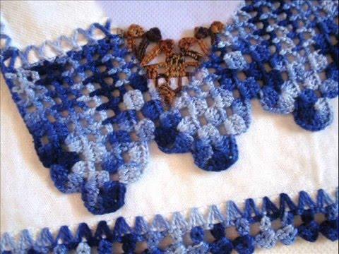 Barradinhos de croche, para panos de copa e toalhas! Visitem- me  artesanatosdaluziane.blogspot.com