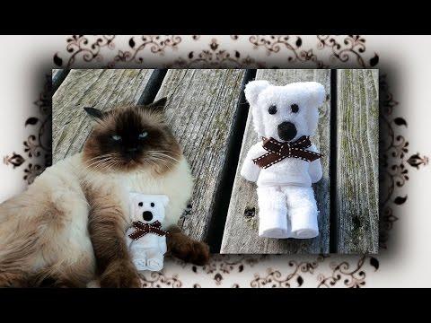 DIY 😻 Origami Handtuch Bär für Katzen & Hunde