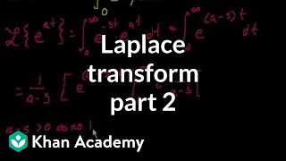 Laplace transform 2 | Laplace transform | Differential Equations | Khan Academy