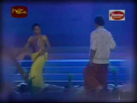 sabeetha - sabeetha and channa in a beautiful scene song: by amaradeva film: sarunalaya.