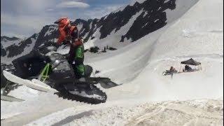 2. Tucker Hibbert & Logan Christian Testing Prototype 2018 Arctic Cat ZR Snocrosser