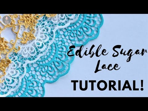 Homemade Sugar Lace For Cakes Tutorial!