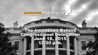 Click to play: The Incentives Behind Congressional Delegation - Audio/Video