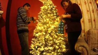 Timelapse: Putting up our Christmas tree 2015