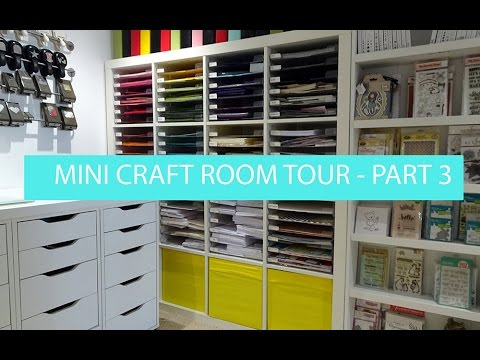 What's in my Ikea 'Alex' Storage - Mini craft room tour (видео)