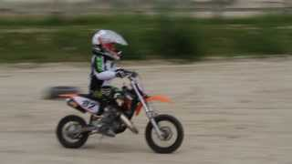 5. First time KTM 50 sx 2010 practice for Justin Kristiansen