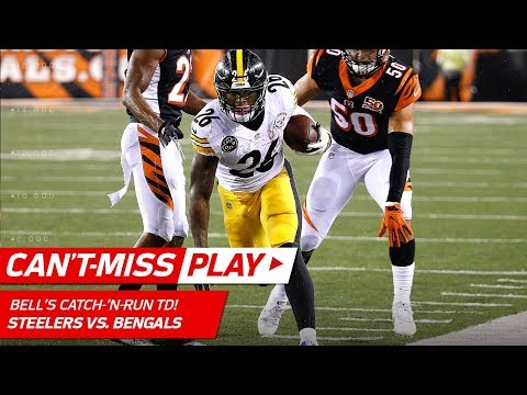 Video: Le'Veon Bell's Ridiculous Tight Rope TD vs. Cincinnati! | Can't-Miss Play | NFL Wk 13 Highlights