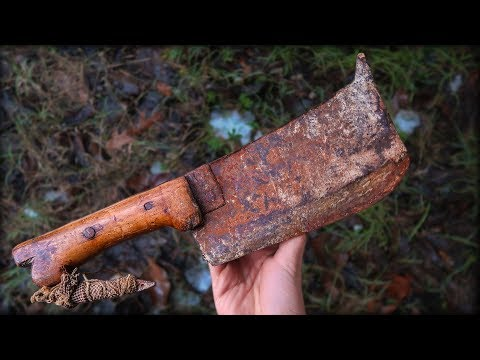 Knifemaker Restore Antique Cleaver
