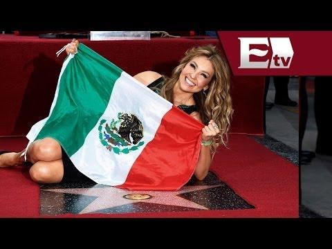 devela - Thalía devela su estrella en Hollywood / Función con Joanna Vegabiestro 6 diciembre 2013 La actriz y cantante mexicana, Thalía se convirtió en la primer mexi...