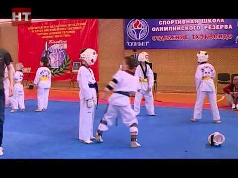 На центральной спортивной арене Великого Новгорода прошли открытый чемпионат и первенство области по тхэквондо