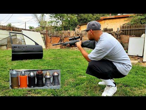 Gamo lethal and other best . 177 pellets vs car door!