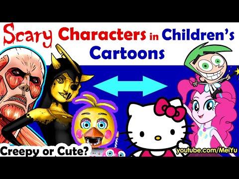 Scary Characters in Childrens Cartoons 2 - Art Challenge   Fun Friday Reimagine Art Challenge Mei Yu