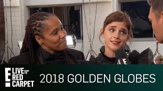 Emma Watson Attends Golden Globes With Imkaan Activist | E! Red Carpet & Award Shows