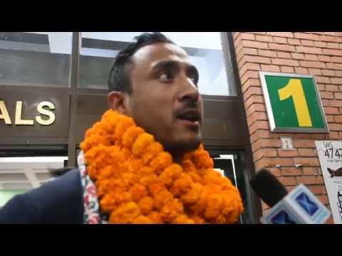 (नेपाली क्रिकेट खेलाडीको भव्य स्वागत  हेर्नुस्...7 min 11 sec)