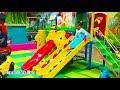 bermain di taman mainan anak perosotan mandi bola di kids zone indoor playground fun