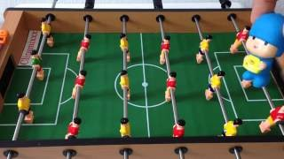 teletubbies and pocoyo table soccer match