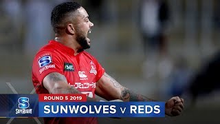 Sunwolves v Reds Rd.5 2019 Super rugby video highlights | Super Rugby Video Highlights