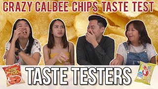 CRAZY FLAVOURED CALBEE CHIPS | Taste Testers | EP 61