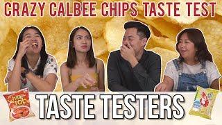 Video CRAZY FLAVOURED CALBEE CHIPS | Taste Testers | EP 61 MP3, 3GP, MP4, WEBM, AVI, FLV Agustus 2018