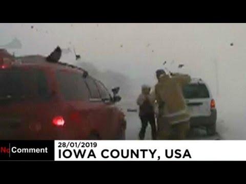 «Τρελή» πορεία οχήματος στο χιόνι – Ένας τραυματίας