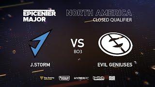 J.Storm vs Evil Geniuses, EPICENTER Major 2019 NA Closed Quals , bo3, game 1 [4ce & Lex]