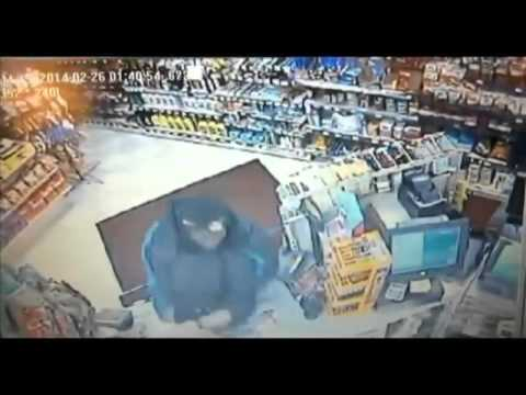 Armed Robbery Fail: Brave Store Clerk Body Slams Man After He Tried To Rob Store!