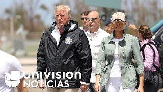 Trump visita Puerto Rico, pero no se acerca a las áreas más afectadas por el huracán María