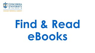 Find and Read Ebooks