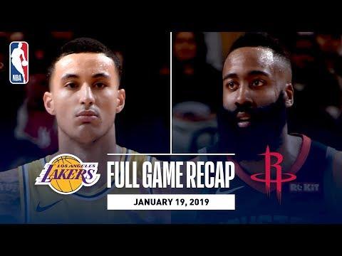 Video: Full Game Recap: Lakers vs Rockets | Harden & Gordon Lead HOU In OT Thriller