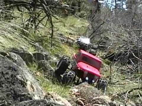 Axial and Summit on our Deadfall Rock crawling trail